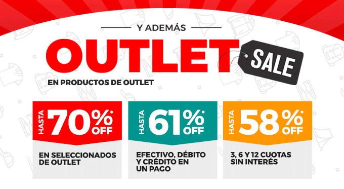Outlet Sale: Hasta 70% OFF en productos de Outlet