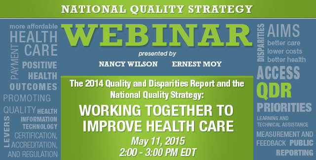 New Webinar Working for Quality