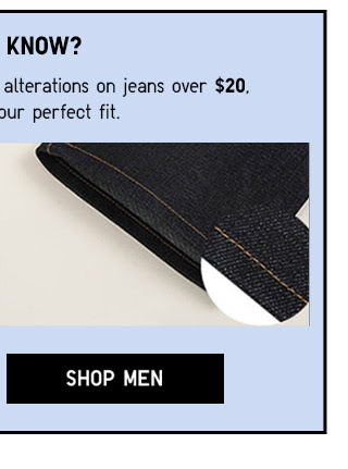 UNIQLO now offers FREE online alterations on pants and jeans over $20 - SHOP MEN