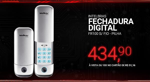 Intelbras Fechadura Digital FR100 s/ Fio - Pilha