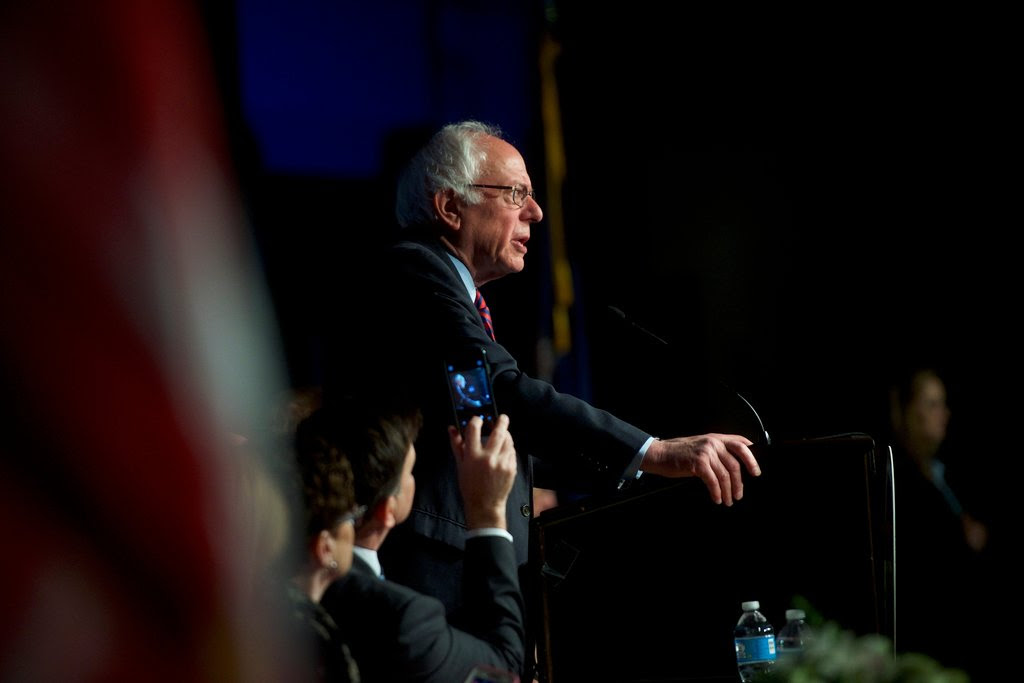 Senator Bernie Sanders of Vermont speaking at the Pennsylvania A.F.L.-C.I.O. Convention at the Sheraton Philadelphia Downtown Hotel on Thursday.