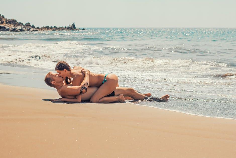 beach, bikini, couple