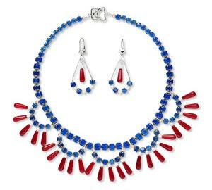 Patriotic Bib Style Necklace Tutorial