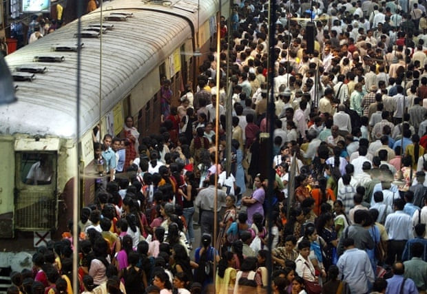 Around 7.5 million commuters cram themselves into local trains every day.