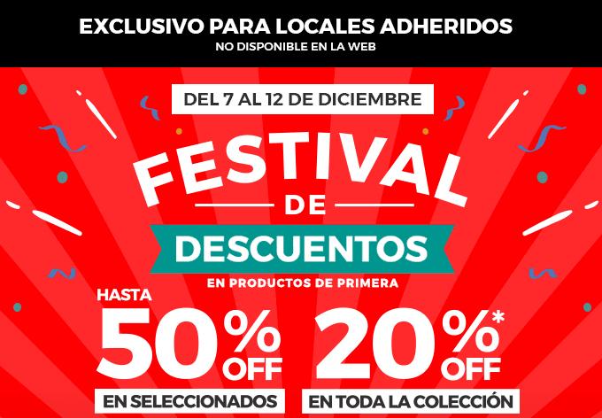 7 al 12/12 - Festival de descuentos: Hasta 50% OFF