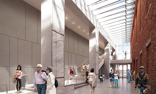 PEM Expansion. Architectural rendering by Ennead Architects. Courtesy of Peabody Essex Museum.