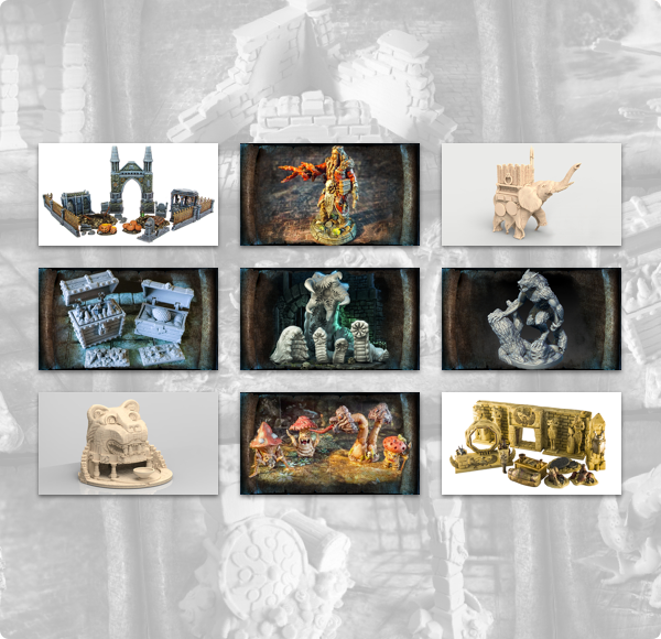 Humble 3D Printable Dungeons & Cities Bundle for 5E Fantasy