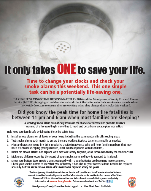 a reminder to check your smoke alarms this evening