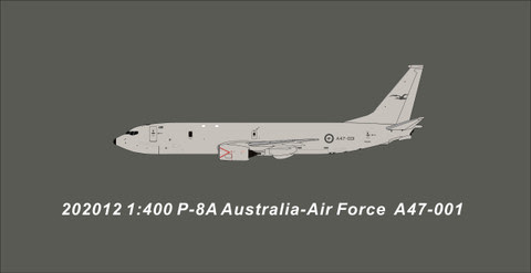 PM202012 | Panda Models 1:400 | Boeing P-8A Poseidon RAAF A47-001 | is due: May 2020