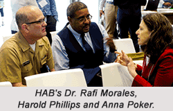 HAB's Dr. Rafi Morales, Harold Phillips and Anna Poker