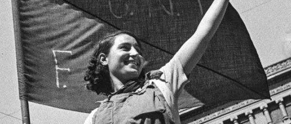 Miliciana (detall), Antoni Campañà, 1936