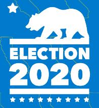 "California Secretary of State's ""Election 2020"" logo"