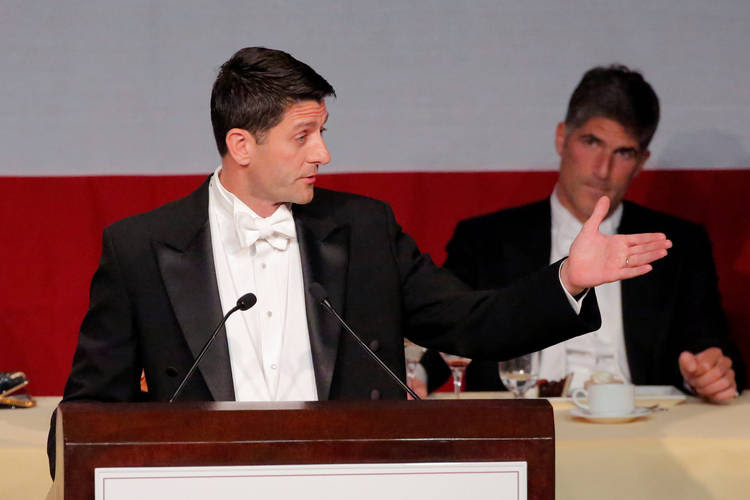 Paul Ryan delivers remarks at the 72nd Annual Alfred E. Smith Memorial Foundation Dinner (REUTERS/Andrew Kelly)