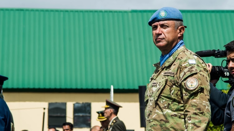 El Coronel Miguel Ángel Salguero es director de CAECOPAZ desde marzo de 2018: estuvo en dos misiones de paz, una como observador militar y otra como líder de un contingente argentino