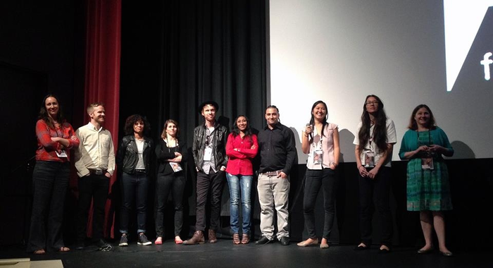 The diverse and uber-talented Tough Love crew at the Full Frame Q&A