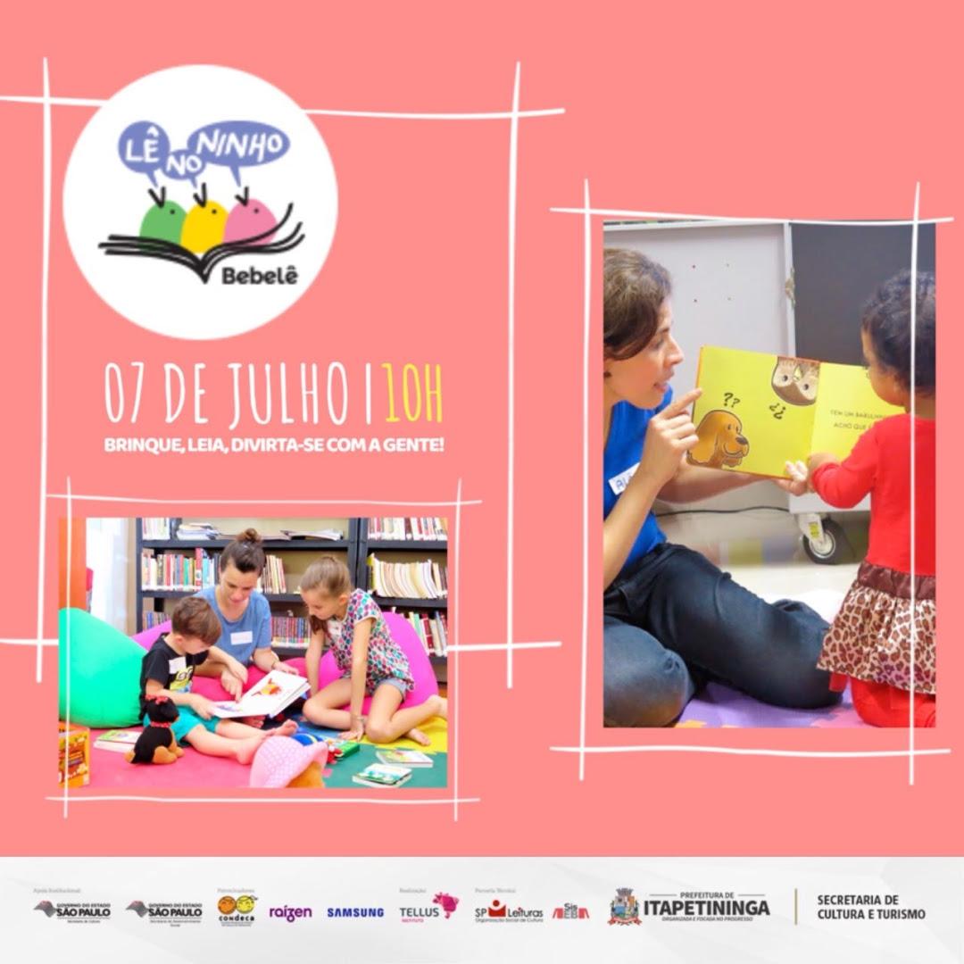 Projeto que estimula crianças a lerem será apresentado dia 7 na biblioteca de Itapetininga