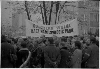 Fotografia z obchodów Dnia Niepodległości w Bielsku-Białej w dn. 11 XI 1981 r., IPN Ka 047/1020.