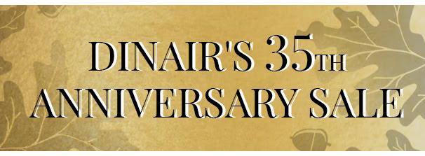 Dinair's 35th Anniversary Sale