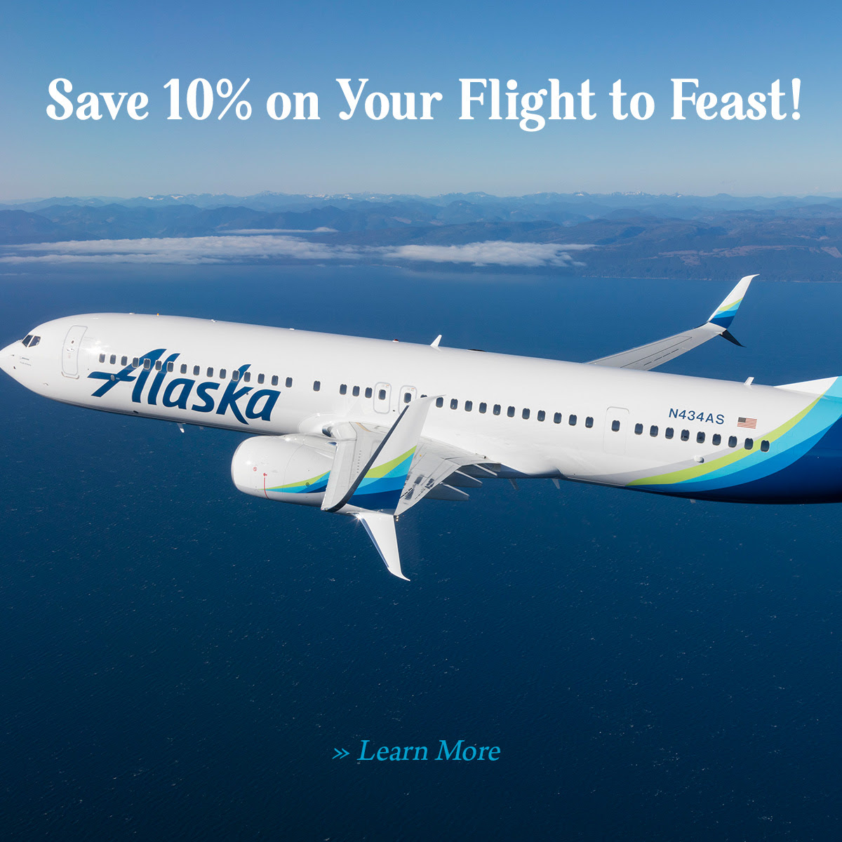 Save 10% on Your Flight to Feast