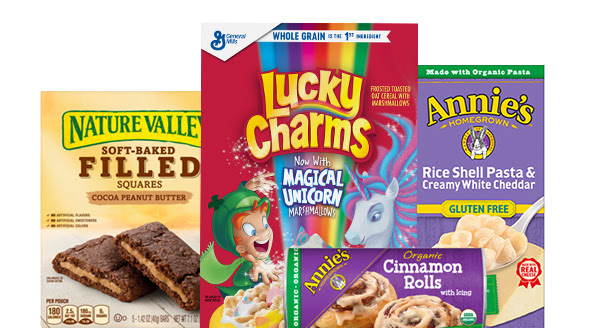 nature valley lucky charms annies cinnamon rolls and mac n cheese