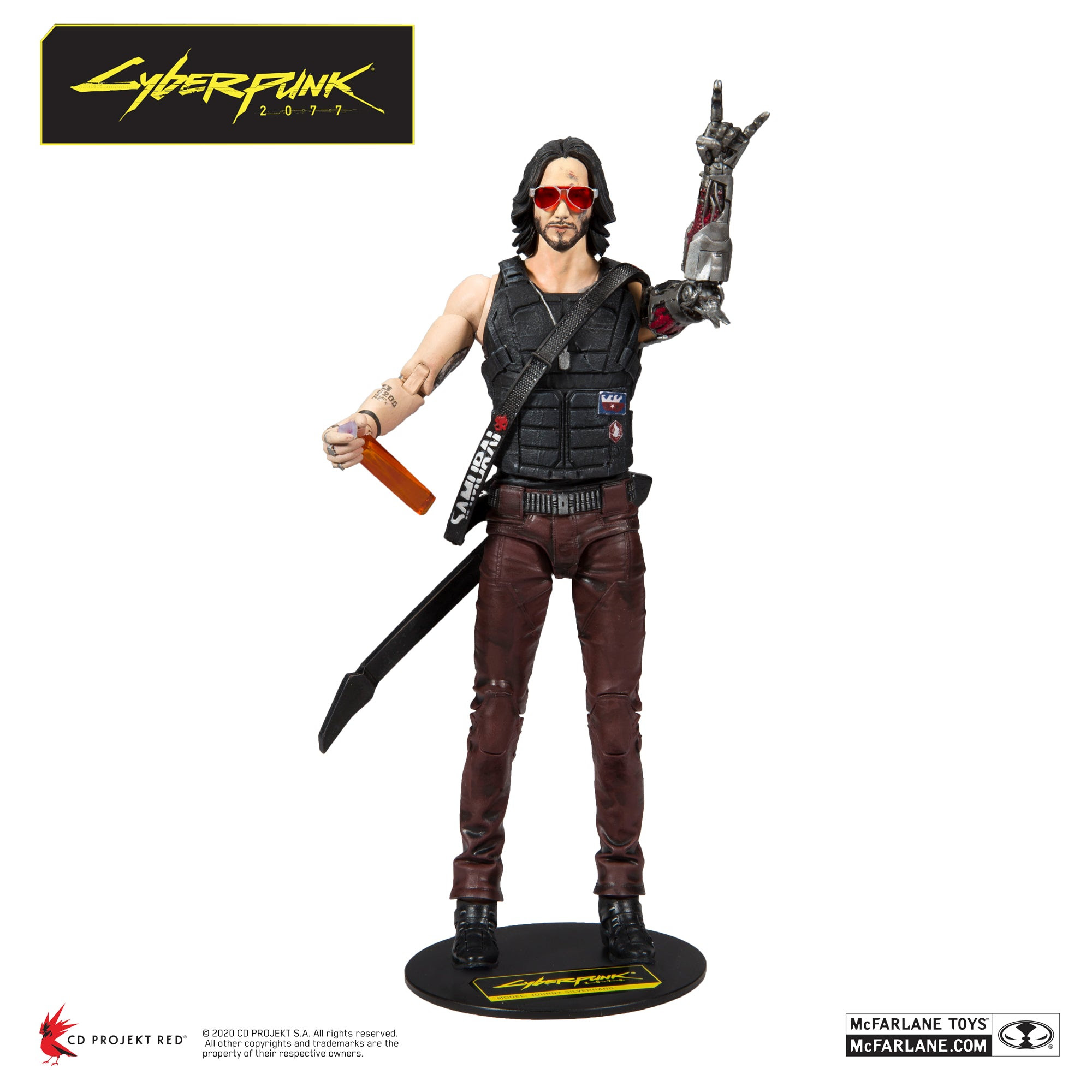 "Image of Cyberpunk 2077 Johnny Silverhand 7"" Action Figure - Q2 2020"
