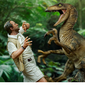 Jurassic Park Clever Girl 1/10 Deluxe Art Scale Limited Edition Statue