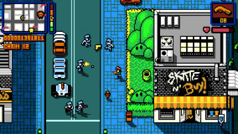 The Retro City Rampage game reimagines the open-world crime genre of the '80s. (Photo: Business Wire ...
