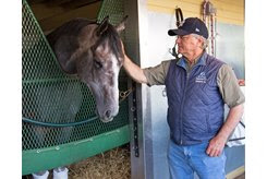 Hall of Fame trainer Bill Mott with Tacitus