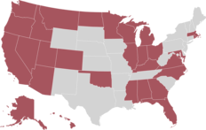Image depicting US Map of states where vacancies are located