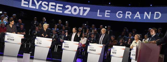 débat houleux entre les candidats, un possible procès pour Poutou, soupçons d'emplois fictifs au FN...