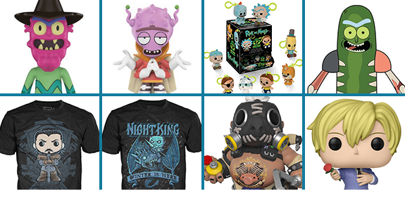 NEW FUNKO FIGURES AND SHIRTS