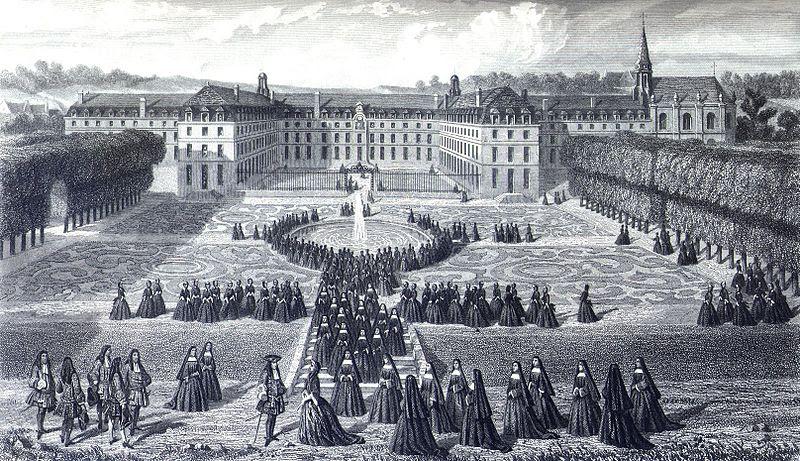 Файл:визит Людовика XIV в Сен Cyr.jpg