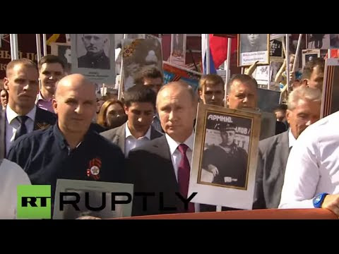 Russia: Hundreds of thousands join Immortal Regiment march in Moscow  Hqdefault