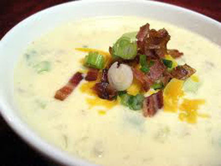 Soup du Jour.... Potato Cheddar and Ale with Bacon and Leeks