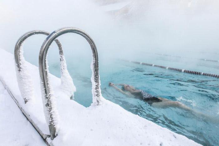 открытый бассейн в москве зимой
