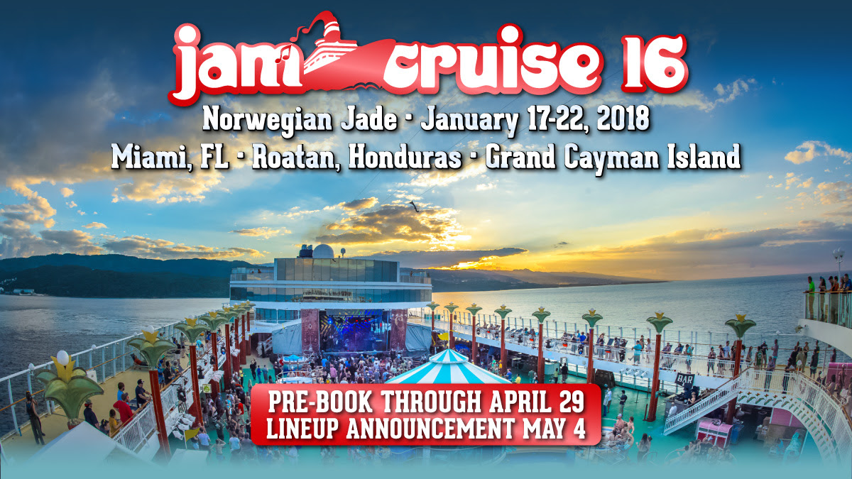 Jam Cruise 16  Pre-book Today!