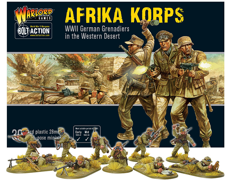Pre-order Bolt Action German Afrika Korps Plastic Box Set