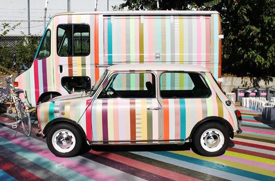 Washi tape a car.