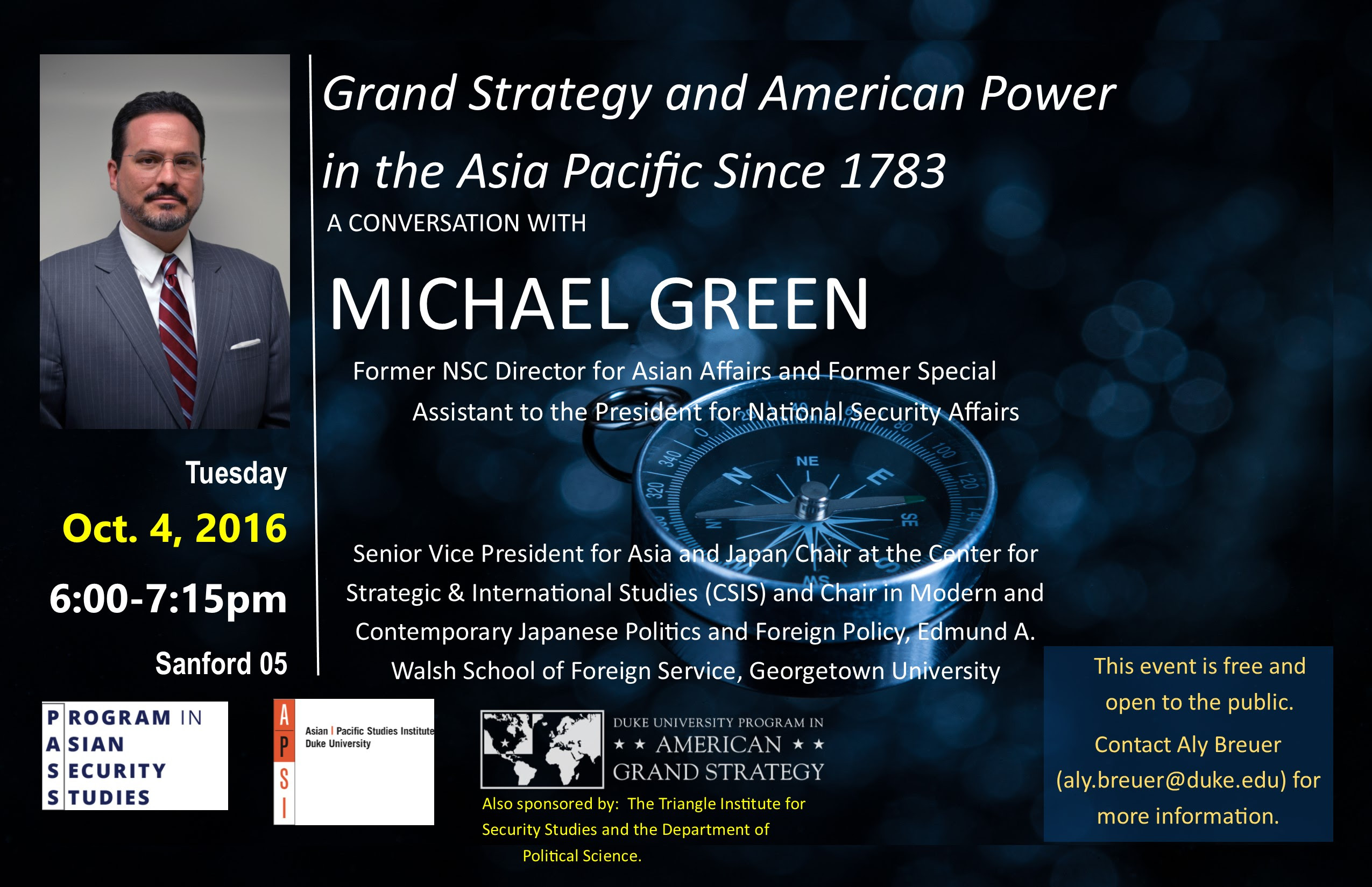 Grand Strategy & American Power in the Asia Pacific @ Sanford 05, Sanford School of Public Policy | Durham | North Carolina | United States