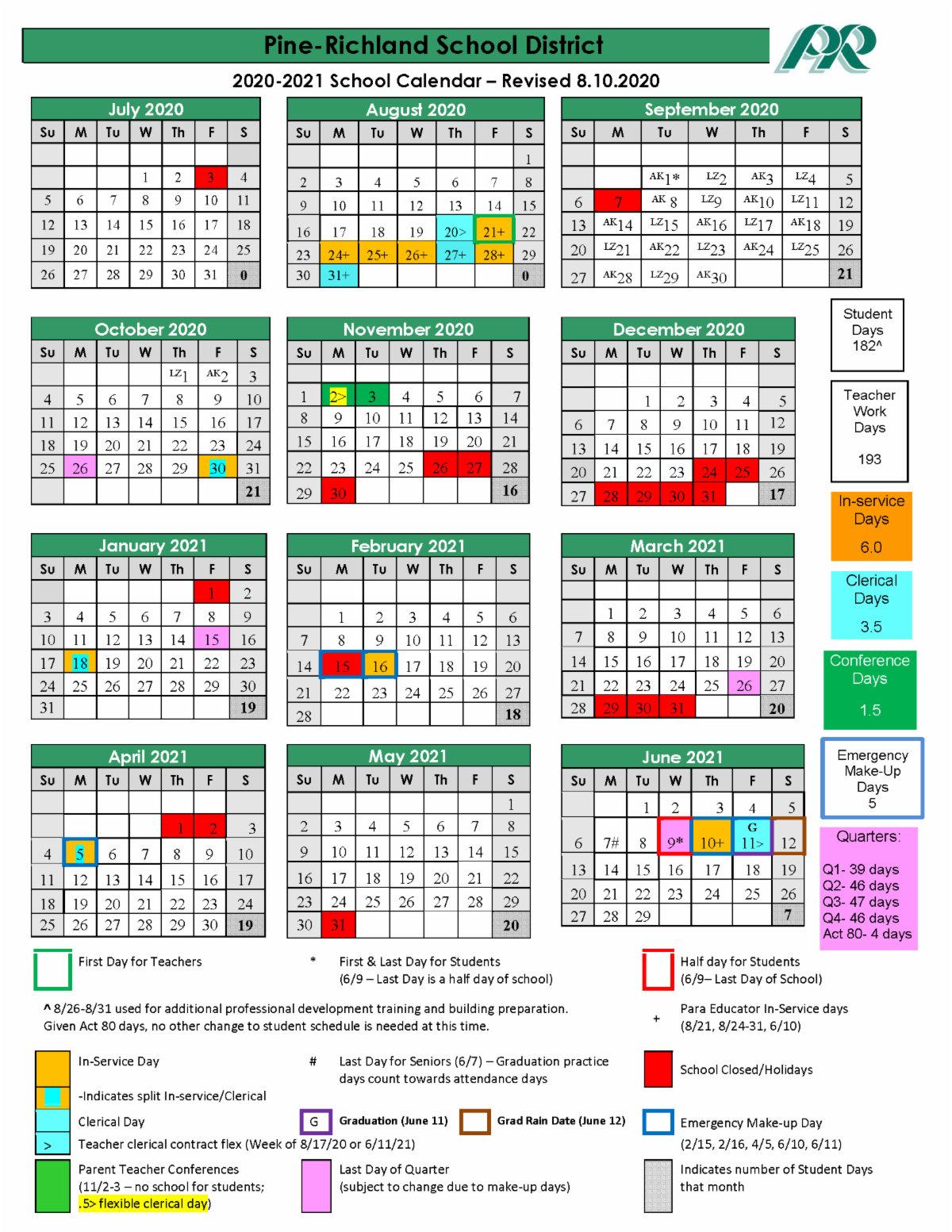 Richland 2 School Calendar 2021-2022 Images