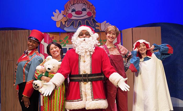 The cast of Santa's Enchanted Workshop
