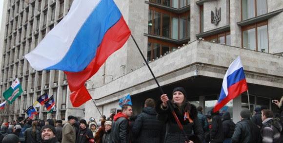 Manifestaciones pro-rusas en Ucrania. Foto: Estrelladigital.com