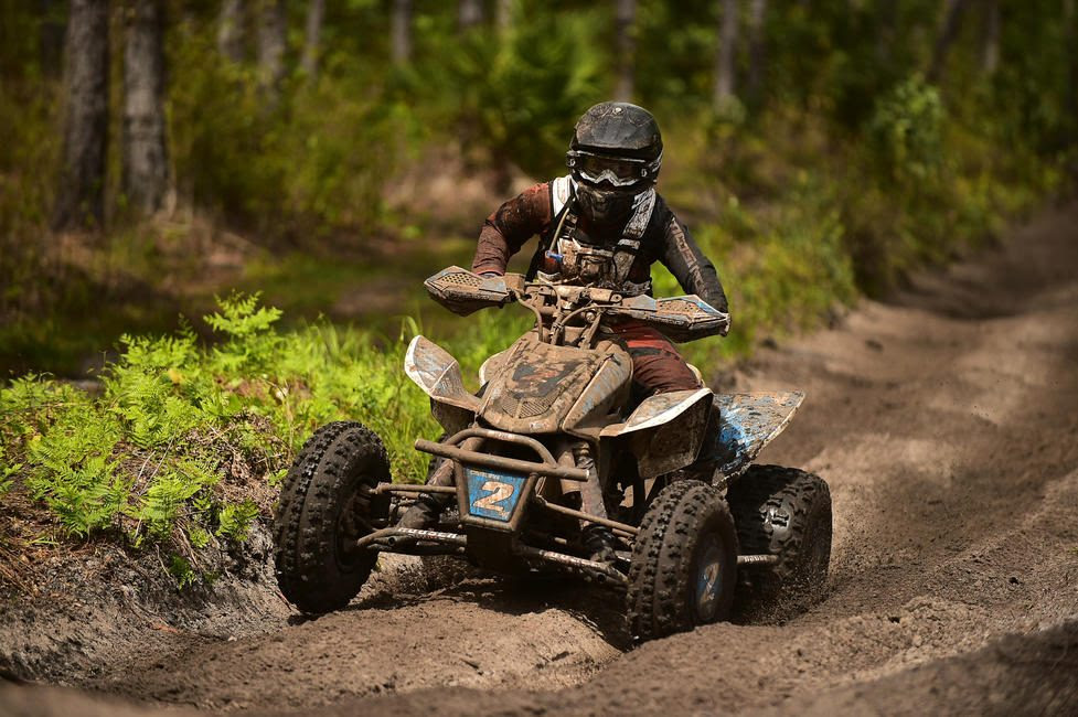 Katelyn Osburn earned the ATV WXC win at the Moose Racing Wild Boar GNCC.