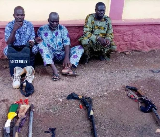 3 Vigilante members arrested over the gruesome murder of a 24-year old 400 level student of Olabisi Onabanjo University
