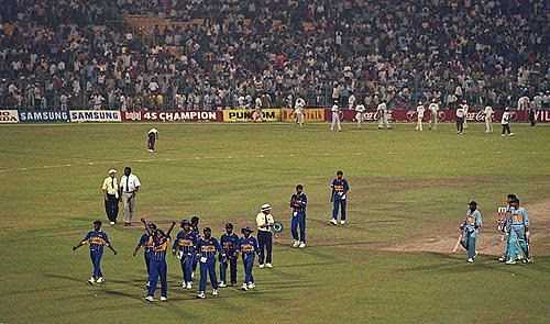 The pitch at Eden Garden changed drastically during the 1996 World Cup