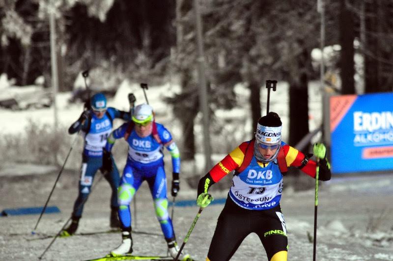 Victoria Padial durante el Sprint en Ostersund