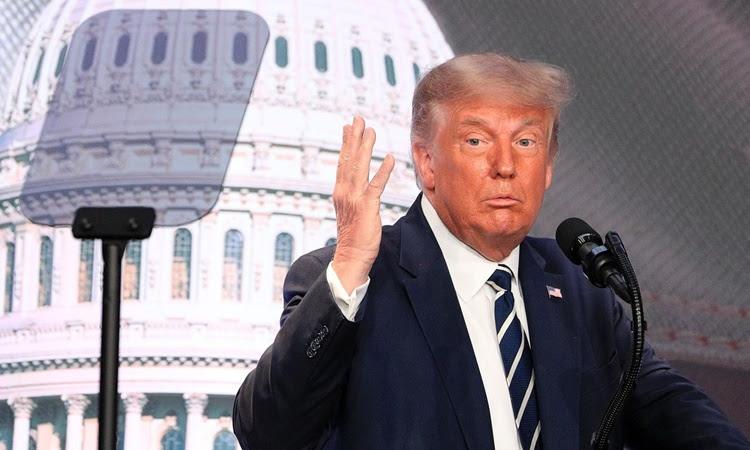 Tổng thống Donald Trump phát biểu tại cuộc họp của Hội đồng Chính sách Quốc gia Mỹ năm 2020 ở Arlington, Virginia, ngày 21/8. Ảnh: Reuters.