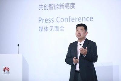 Peter Zhou, vicepresidente de la Línea de Productos TI de Huawei y presidente del Dominio de Almacenamiento y Datos Inteligentes de Huawei (PRNewsfoto/Huawei)