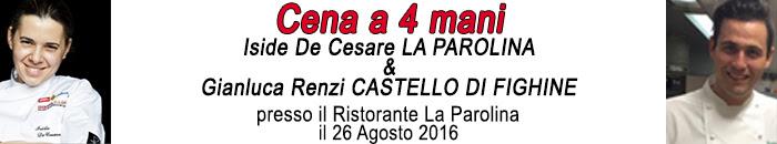 Cena a 4 Mani: Iside De Cesare e Gianluca Renzi