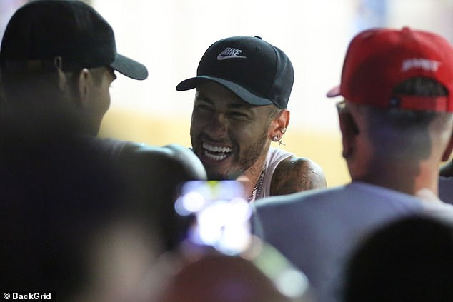 Neymar was all smiles at the Brazilian carnival [BackGrid]